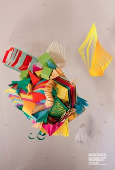 Pi ËœNa Ta #piata #origami #handmade #papaer #folding