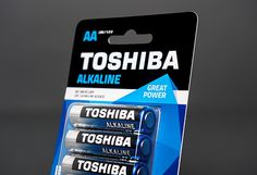 TOSHIBA Batteries on Behance #packaging #toshiba