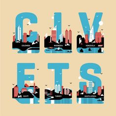 All sizes | MODUS - CIVETS | Flickr - Photo Sharing! #states #letters #civets #illustration #muzzi #modus #skyline #magazine #francesco