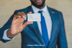 Stylish businessman showing business card Free Psd. See more inspiration related to Business card, Mockup, Business, Card, Man, Presentation, Elegant, Present, Businessman, Mock up, Success, Business man, Modern, Show, Up, Successful, Holding, Stylish, Mock, Presenting and Showing on Freepik.