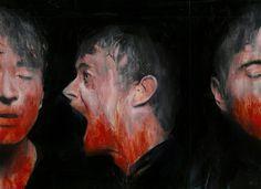 """Where is my methadone? "" - Mixed media on paper ( collage, acrilyc , ecoline), 22 x 26cm. Giuseppe Velardo #artwork"