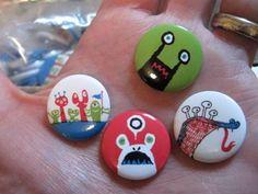 Dribbble - Stumptown/TCAF Buttons by David Huyck #pin #illustration #art