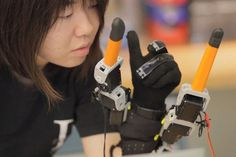 For those who have disabilities, this robotic fingers are a big help. You don't have to command what it has to do. It has a sensor that know #modern #design #product #industrial #innovative