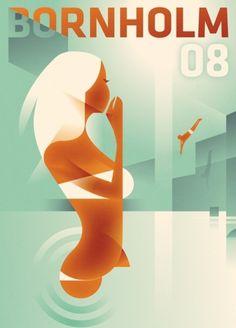 bornholm08.jpg 482×669 pixels #bornholm #berg #mads #illustration #poster