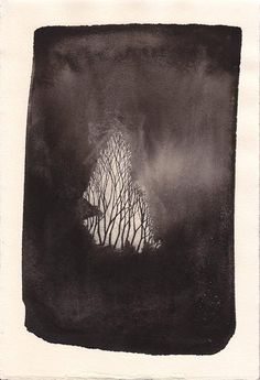Artist Pablos Herrero #ink #tree #black&white #wash #art #branches