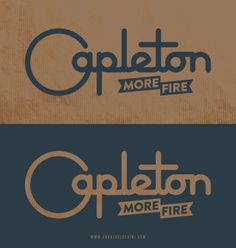 """Capleton, More Fire"" #typography #reggae #capleton"
