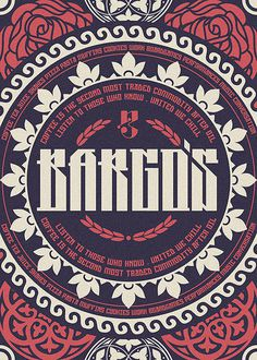 Bargo's on the Behance Network #print #decorative
