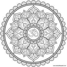 Line art lotus mandala