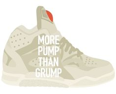 ANONYMOUS MAG #pump #grump #bubble #laces #illustration #sneaker #basketball #reebok