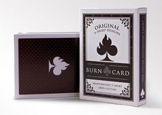 T-Shirt packaging for Burn Card original t-shirts - Burn Card Clothing #packaging #fashion