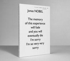 void() #book cover #white #jonas nobel