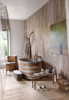Pinterest, interior #interior #wood #bath #bathroom
