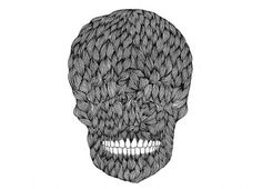I Am Shakira #design #texture #skull #black and white #pattern