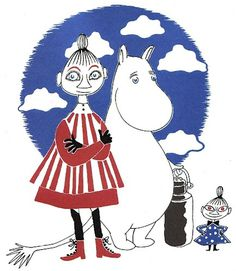 Vintage Kids' Books My Kid Loves: The Book About Moomin, Mymble and Little My #illustration #books