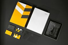 Looks like good Graphic Design by Ineo Designlab #yellow #branding #grey