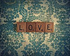 il_fullxfull.210875222.jpg 500×400 píxeles #scrabble #pattern #love #typography