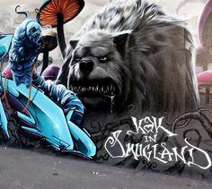 Artist Smug One bad dog street art #graffiti #realism #street #art #realistic