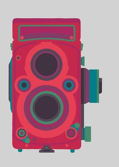 Basilicas print series by Adrian Johnson celebrates classic cameras #illustration #camera
