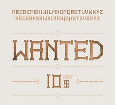 FONTS of CHAOS - The Giant Cowboy Army #fonts #font #alphabet #typographism #typo #typography