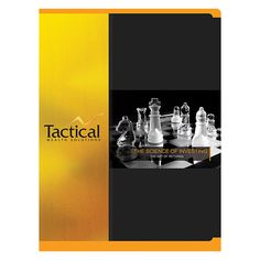 Tactical Wealth Solutions Presentation Folder #chess #yellow #design #presentation #black #pocket #gold #folder