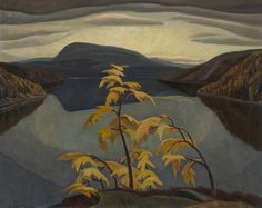 Artwork Page: Evening, Nipigon River - Canadian Paintings in the Thirties #of #group #painting #seven