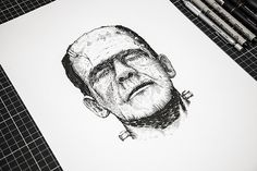 Horror characters on Behance #horror characters #classic movies #temporary tattoo #heymikel #illustration #characters #drawings