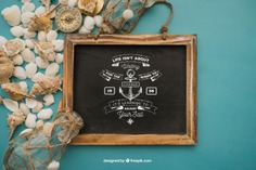 Beach concept with slate Free Psd. See more inspiration related to Mockup, Summer, Beach, Sea, Sun, Holiday, Bottle, Chalkboard, Mock up, Decorative, Vacation, Summer beach, Marine, Up, Season, Concept, Slate, Shells, Composition, Mock, Summertime and Seasonal on Freepik.
