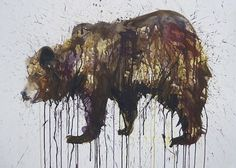 Bear_596261s.jpg 588 × 421 pixel #animal #bear #painting #splatter #fine arts #dave white