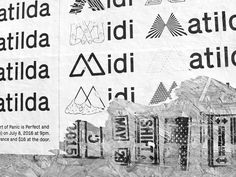 Midi Matilda @ The Independent #poster #type #identity #logos #illustration #graphicdesign #fly #wheatpaste #music #band