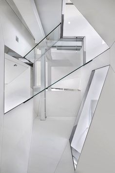 Elegant stairs and white modern interior
