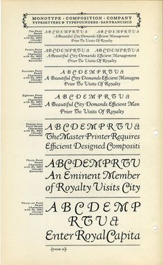 This is a specimen of Fred Goudy's Kennerley Swash typeface. Goudy designed Kennerley in 1911 for the publisher Mitchell Kennerley. Kenne #type #specimen #typography