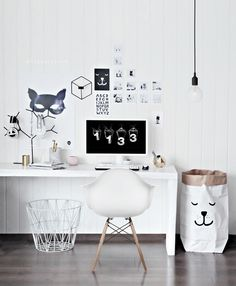 My Home office got a Playful look #home office #workspace #desk