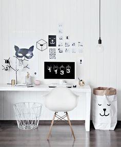 My Home office got a Playful look #office #desk #home #workspace