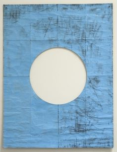 Dan Shaw-Town pos neg shape #blue #drawing #hole #art