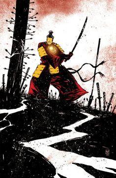 illustration, iron man, samurai