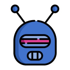 See more icon inspiration related to robot, user, sci fi, futurist, Science fiction, electronics, avatar and technology on Flaticon.