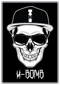 H-Bomb Design: H-Bomb Clothing Truly Begins. #illustration #cap #bomb #skull