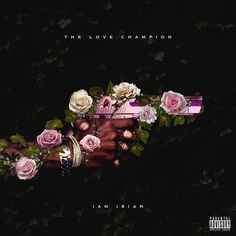 lovechampion_ianisiahx900 #album art #gun #black #pink #floral #flowers