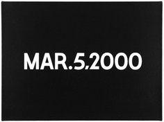 ON KAWARA - MAR.5, 2000. Liquitex on canvas. #on #art #futura #canvas #kawara