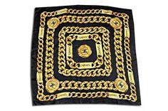 Chanel Caviar Black Silk Scarf