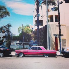 Venice #lowrider #venice #LA #california #car #oldtimer #pink