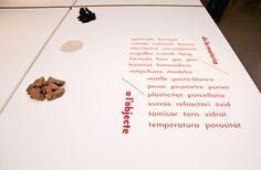 Expo Nous Productes Cerà mics Josep Román Barri #typography