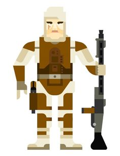 A final character for the series of Star Wars bounty hunter illustrations I