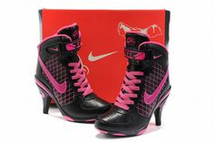 Nike Air Force 1 Heels Black/Pink #shoes