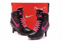 Nike Air Force 1 Heels Black/Pink