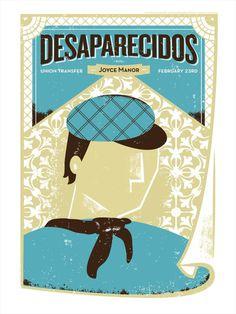 Desparecidos Shawn Hileman #screenprint #stollenwerk #ralph #poster #masthead