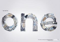 One on the Behance Network #typography