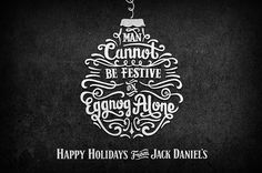 Jack Daniel's Holiday #jack #daniels #lettering #holiday