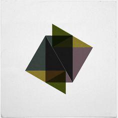 #432 Folding pyramids – A new minimal geometric composition each day