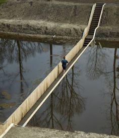 Upwell #water #below #wood #running #rams #crossing #bridge #dieter